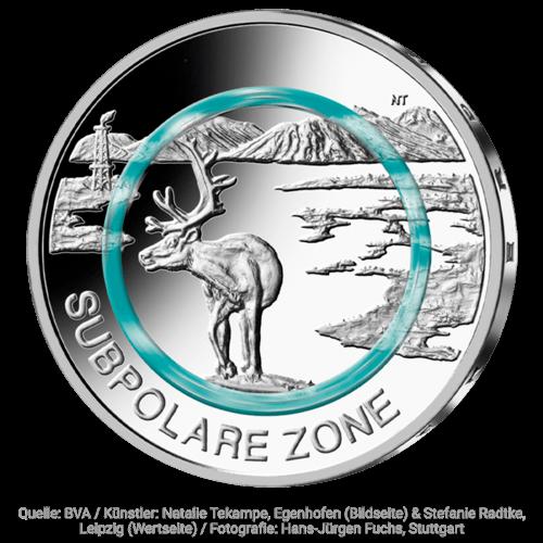 5 Euro-Sammlermünze 2020 Subpolare Zone