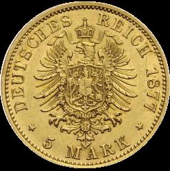 1,79 g Gold 5 Mark Deutsches Kaiserreich diverse Jahrgänge