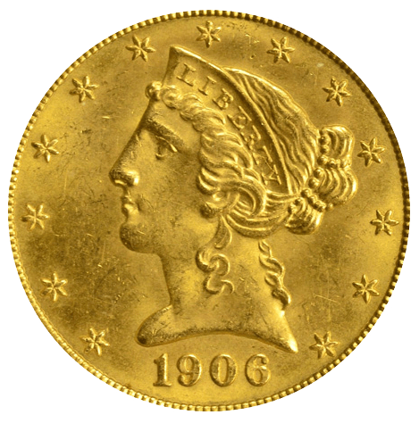 5 US-Dollar Gold Liberty Head diverse Jahrgänge