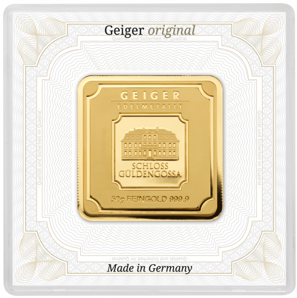 50 g Goldbarren Geiger Original