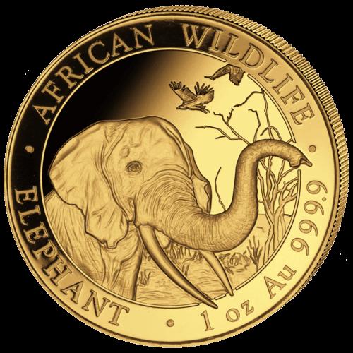 1 Unze Gold Somalia Elefant 2018