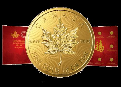 Maplegram 8x 1 g Gold Maple Leaf