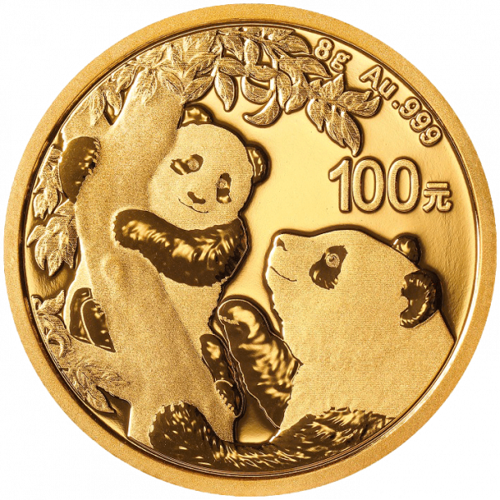 8 g Gold China Panda 2021