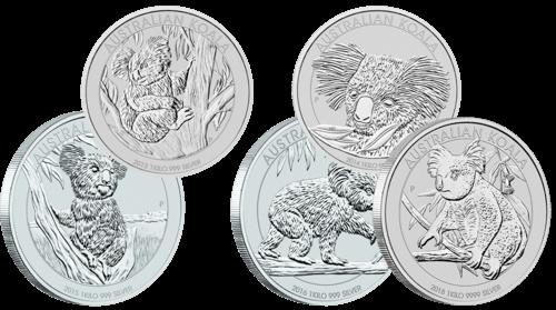 1 kg Silber Australian Koala diverse Jahrgänge