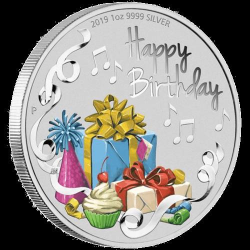 1 Unze Silber Happy Birthday 2019