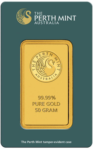 50 g Goldbarren Perth Mint