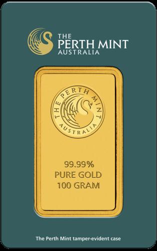 100 g Goldbarren Perth Mint