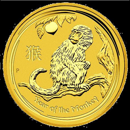 2 Unzen Gold Lunar Affe 2016