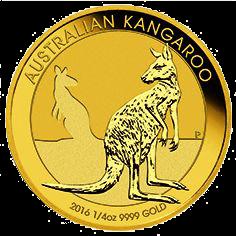 1/4 Unze Gold Australian Känguru 2016