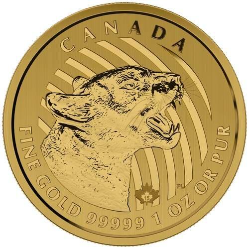 1 Unze Gold Kanada Puma 2015