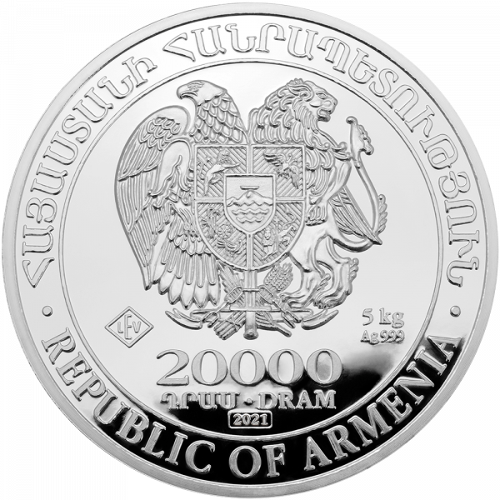 5 kg Silber Armenien Arche Noah 2021