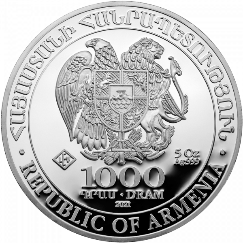 5 Unzen Silber Armenien Arche Noah 2021