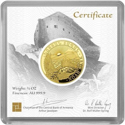 1/2 Unze Gold Armenien Arche Noah 2020