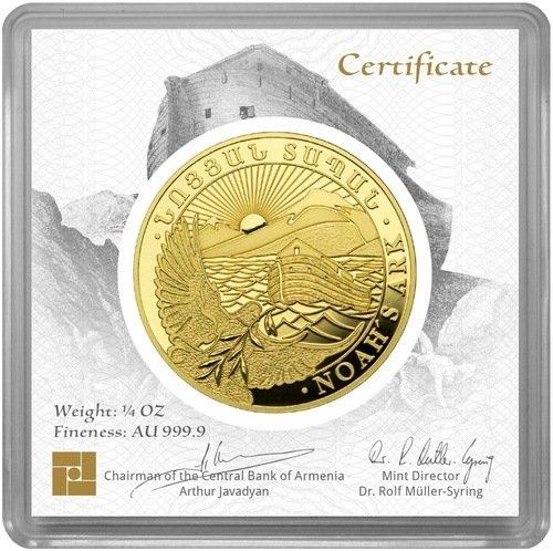 1/4 Unze Gold Armenien Arche Noah 2020