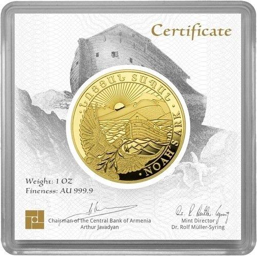 1 Unze Gold Armenien Arche Noah diverse Jahrgänge