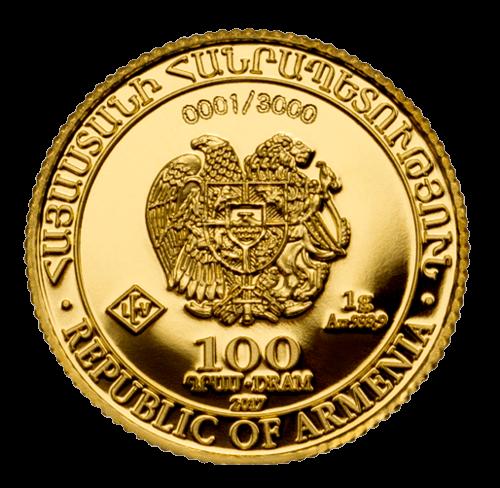1 g Gold Armenien Arche Noah 2017 in Proof Qualität