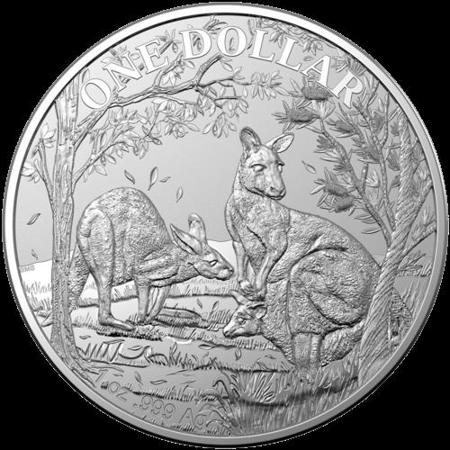 1 Unze Silber Känguru 2019