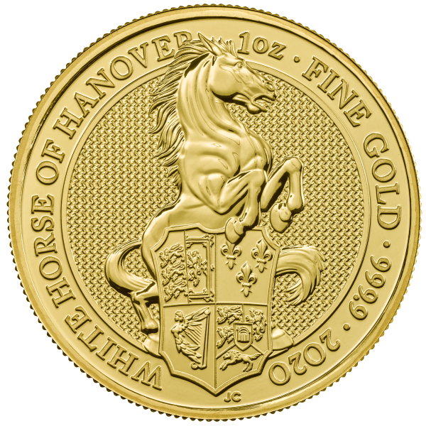 1 Unze Gold The Queen´s Beasts - White Horse of Hanover 2020