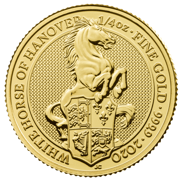 1/4 Unze Gold The Queen´s Beasts - White Horse of Hanover 2020