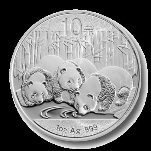 1 Unze Silber China Panda   Vorderseite der Panda Silbermünze 1 Unze der China Mint