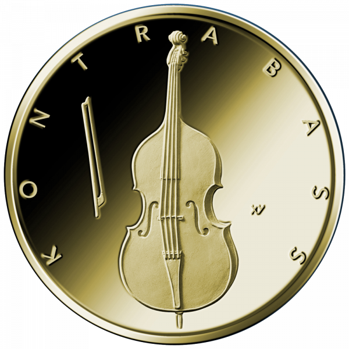 1/4 Unze Goldmünze Kontrabass 50 Euro 2018