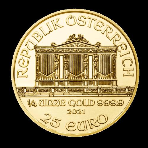 1/4 Unze Gold Wiener Philharmoniker 2021 (zollfrei)