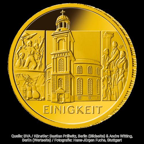 1/2 Unze Gold 100 Euro Einigkeit 2020