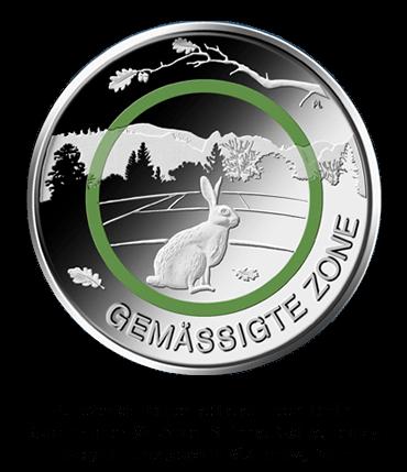 5 Euro-Sammlermünze 2019 Gemäßigte Zone - Stempelglanz