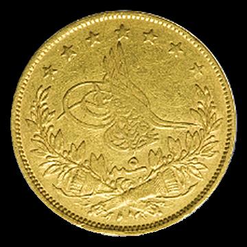 6,61 g Gold Türkei 100 Kurush Piaster Tughra