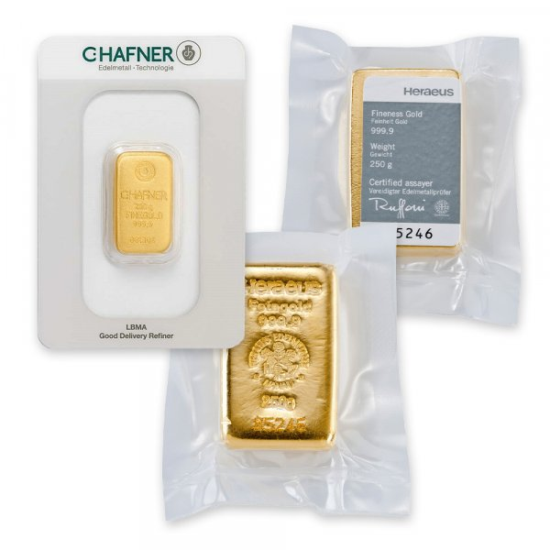 250 g Goldbarren