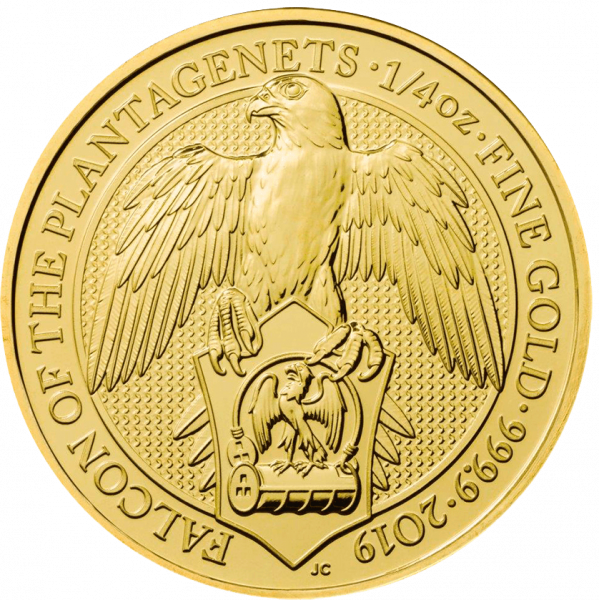 1/4 Unze Gold The Queen´s Beasts - Falcon of the Plantagenets 2019