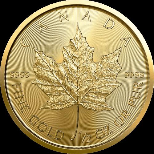 1/2 Unze Gold Maple Leaf 2021