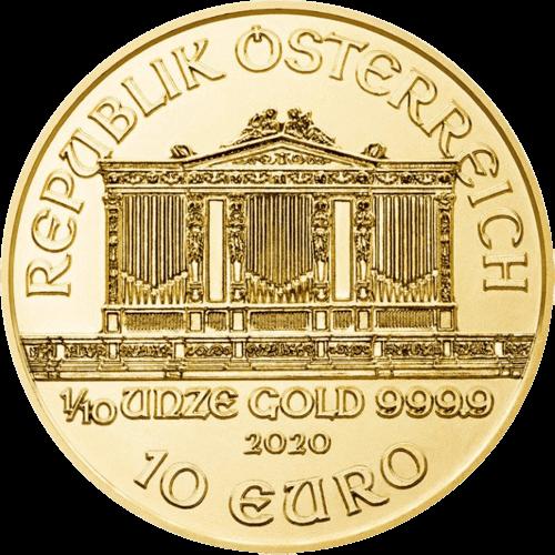 1/10 Unze Gold Wiener Philharmoniker 2020