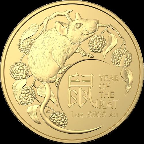 1 Unze Gold Australien (RAM) Lunar II Ratte 2020