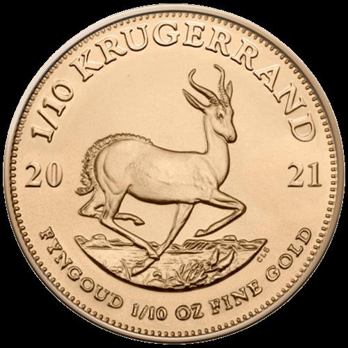 1/10 Unze Gold Krügerrand 2021 (lagernd Frankfurt)