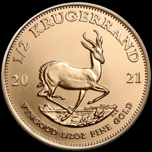 1/2 Unze Gold Krügerrand 2021