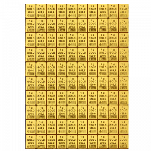 100 x 1 g Combibar Goldtafel