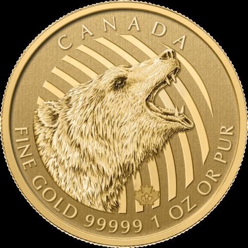 1 Unze Gold Kanada Grizzly 2016
