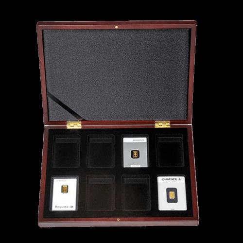 Münzkassette VOLTERRA für 8 x Goldbarren in Blisterverpackung