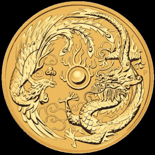 1 Unze Gold Australien Dragon & Phoenix 2018