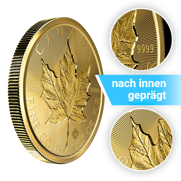 1 Unze Gold Maple Leaf Incuse 2019