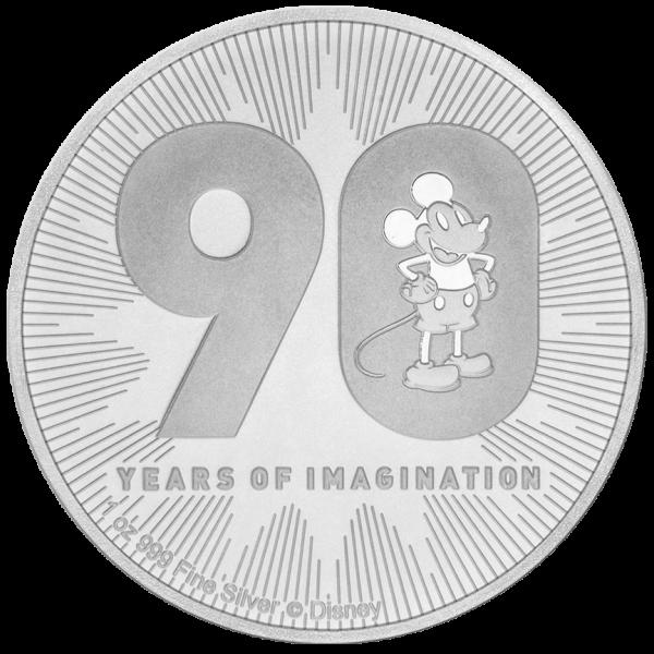 1 Unze Silber Disney Mickey Mouse 90. Geburtstag 2018