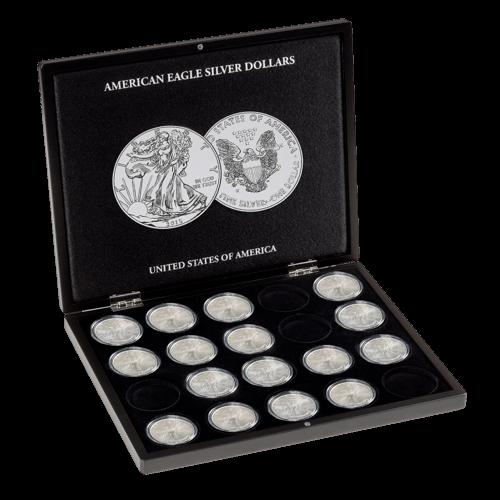 Münzkassette für 20 x 1 Unze Silber American Eagle