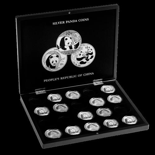 Münzkassette für 20 x 1 Unze Silber China Panda