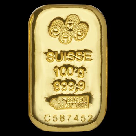 100 g Goldbarren PAMP Suisse