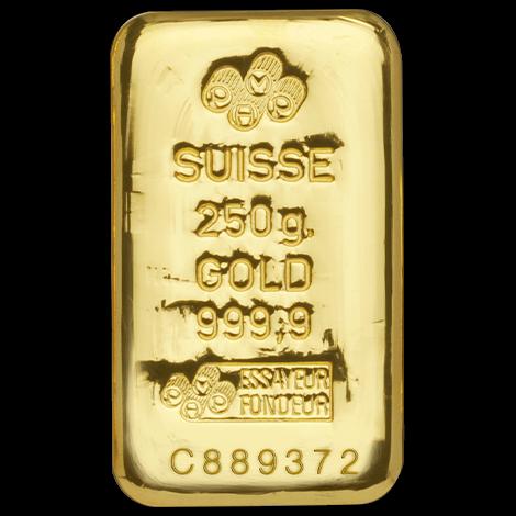 250 g Goldbarren PAMP Suisse