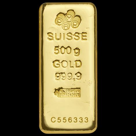 500 g Goldbarren PAMP Suisse