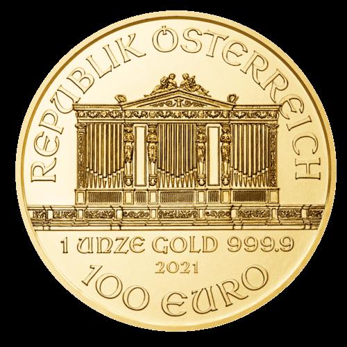 1 Unze Gold Wiener Philharmoniker 2021