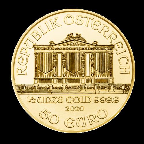 1/2 Unze Gold Wiener Philharmoniker 2020