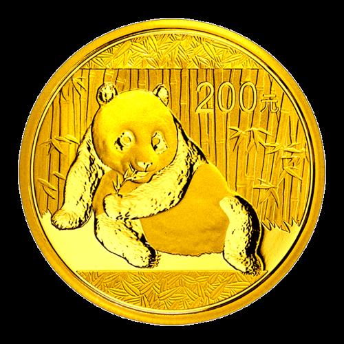 1/2 Unze China Panda Gold 2015 (200 Yuan) /Vorderseite